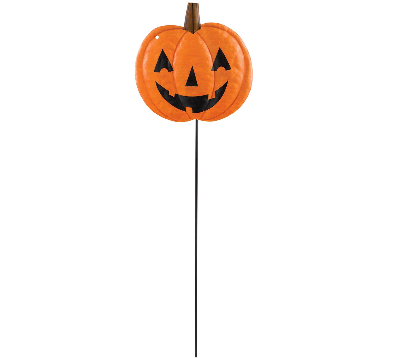 Pumpkin Shaped Small Metal Yard Stake