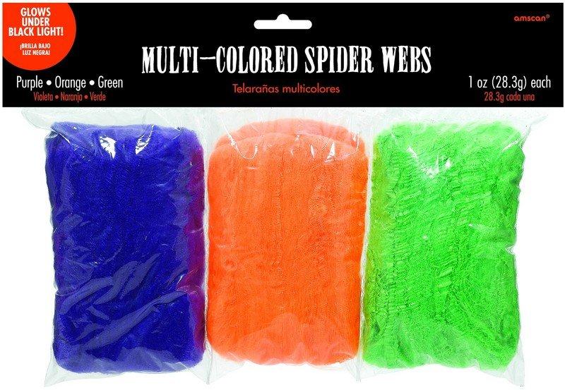Spider Webs Polyester - Multi Coloured