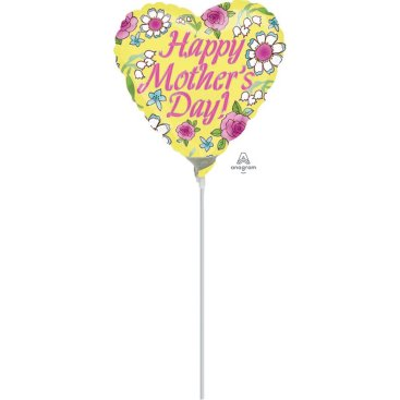 23cm Happy Mothers Day Yellow A15