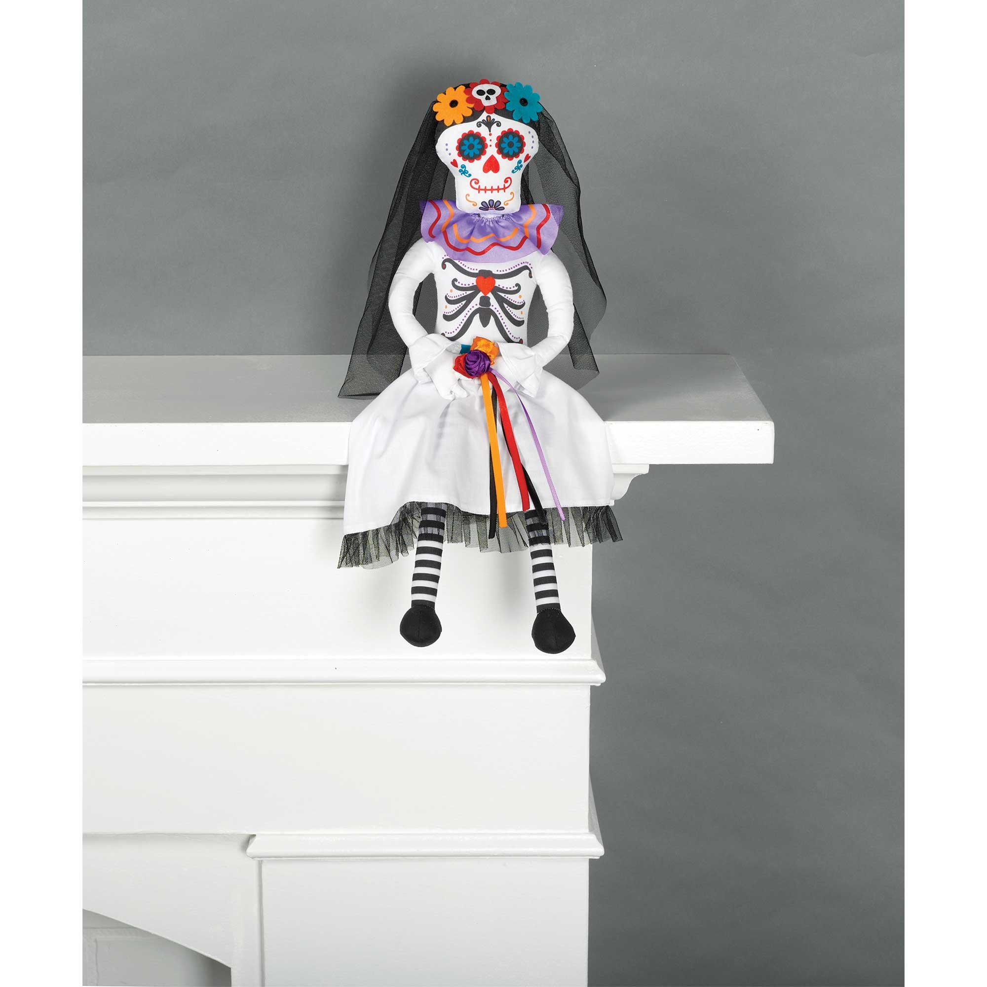 Critter Sitter Day of the Dead Bride Prop Decoration Fabric