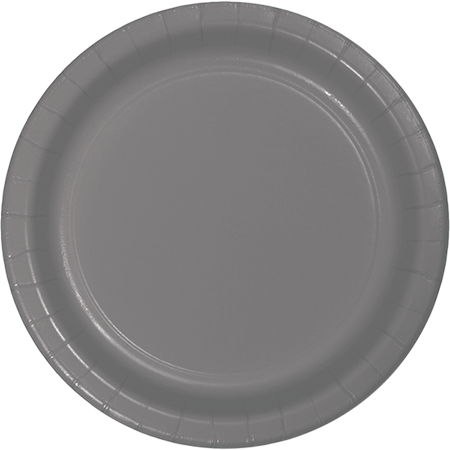 Glamour Gray Lunch Plates Paper 18cm