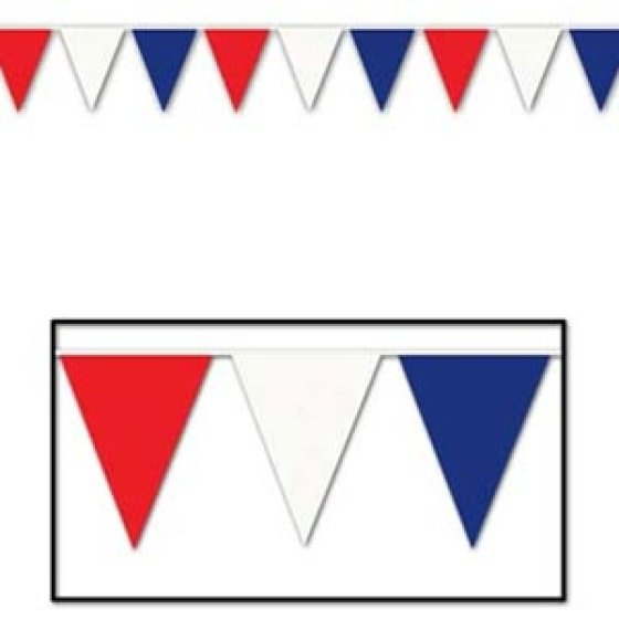 Pennant Flag Banner Giant Red, White & Blue