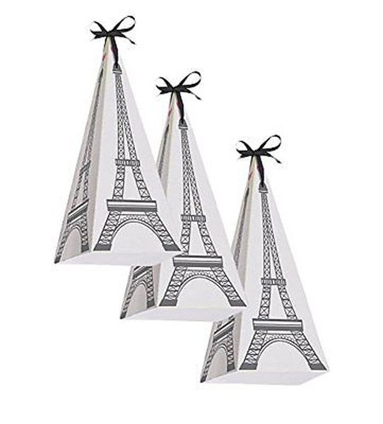 Party in Paris Treat Boxes Cardboard 19cm x 8cm