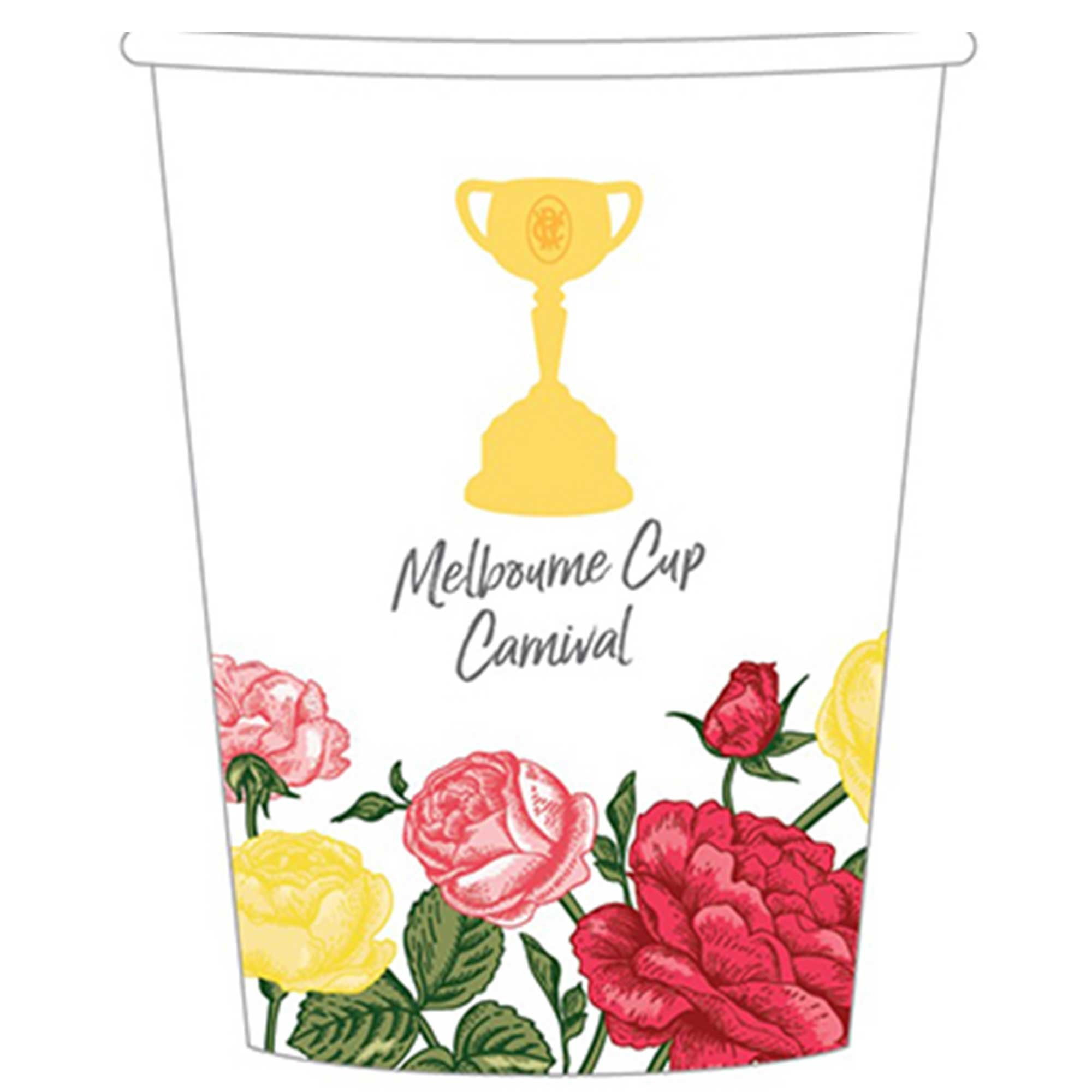 Melbourne Cup Paper Cups 266ml