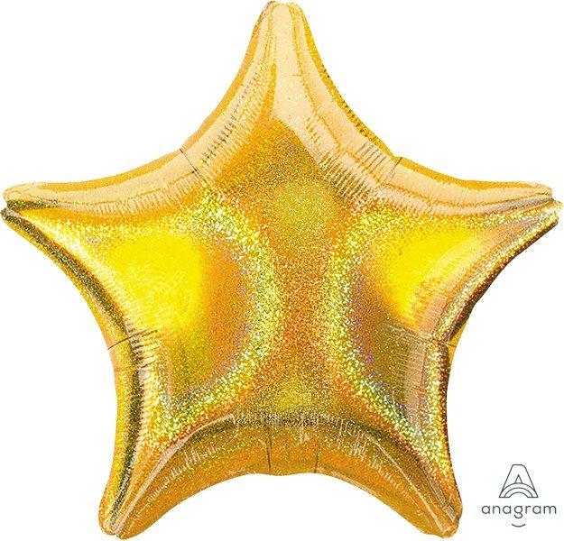 45cm Standard Holographic Star Gold Dazzler Star S55