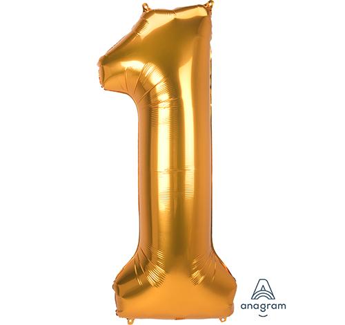 SuperShape Jumbo Number 1 Gold 55cm x 134cm L53