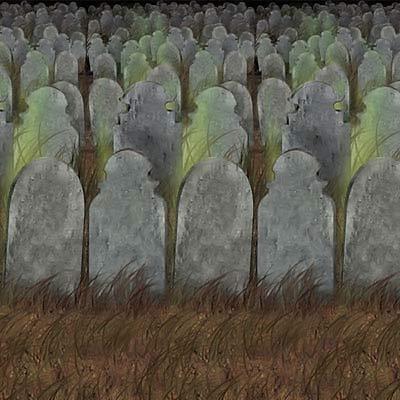 Backdrop Graveyard Scene Setter