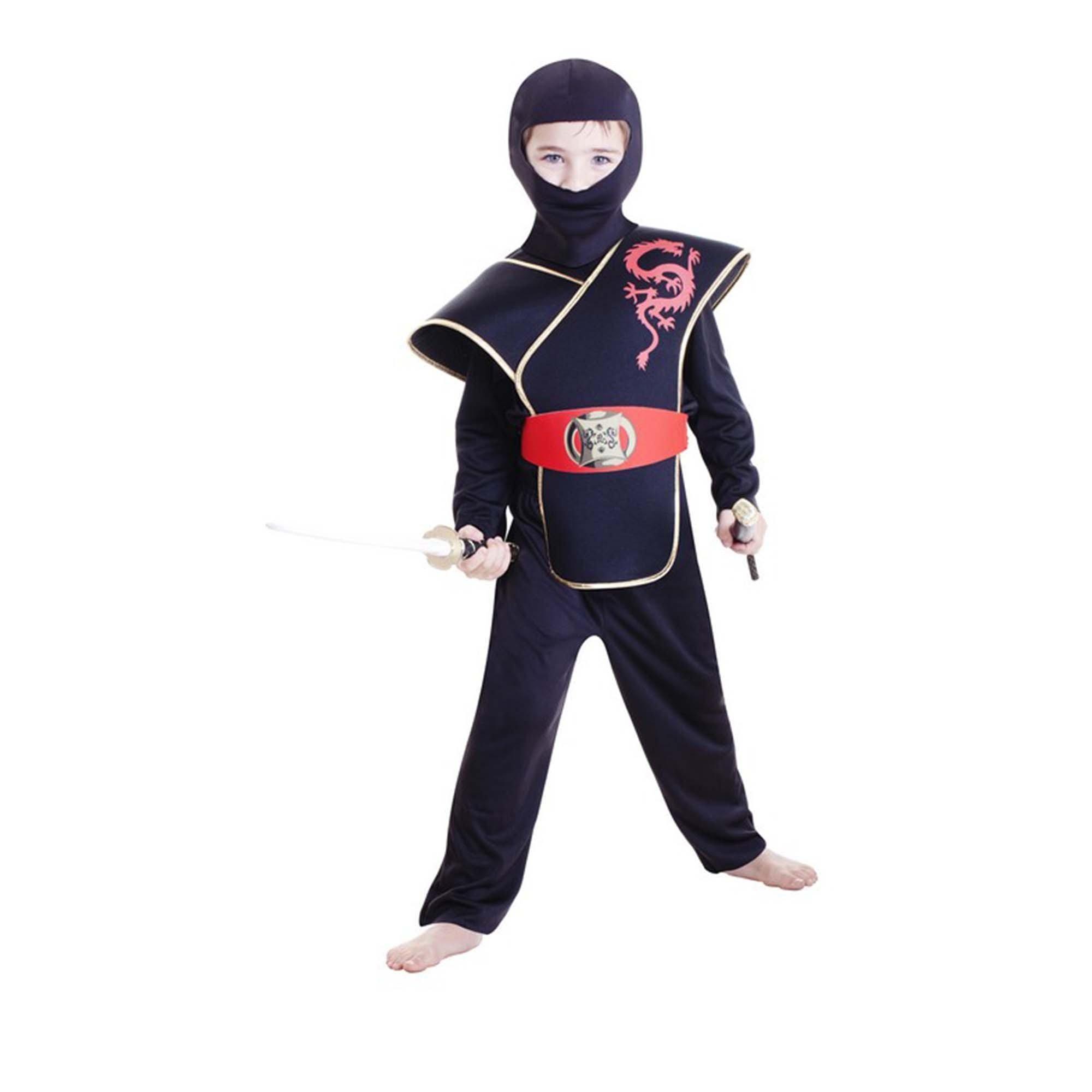 Deluxe Ninja Boy Costume (Large) 6-8 yrs
