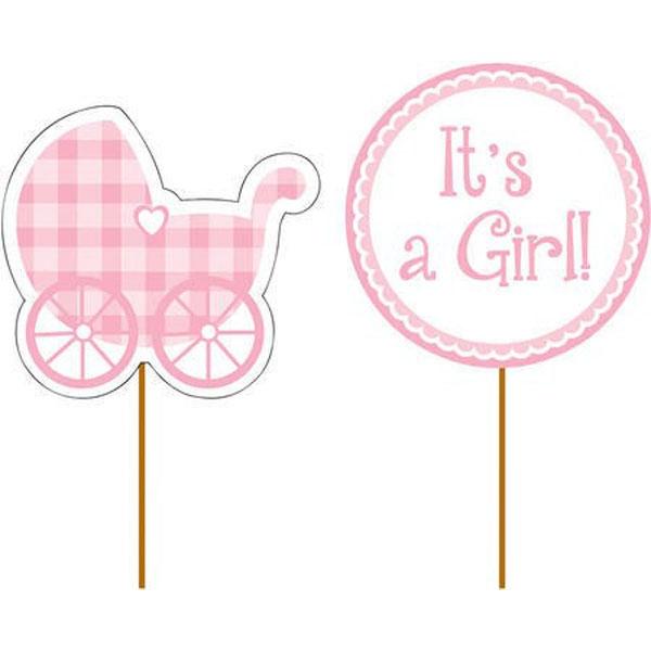 Cupcake Picks It's A Girl 10cm