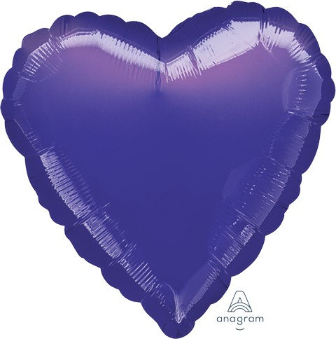 45cm Standard Heart HX Metallic Purple S15