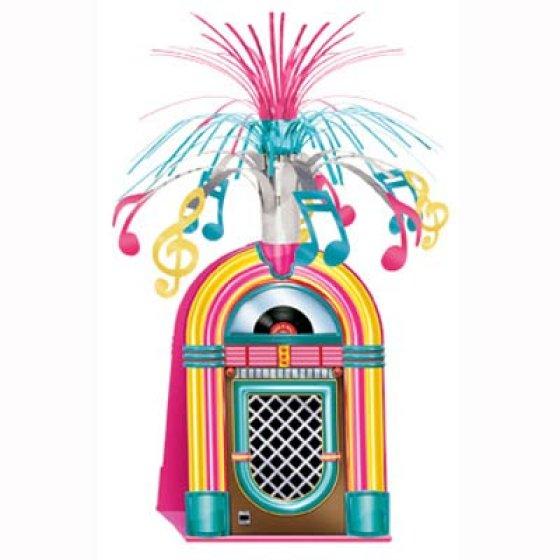 Jukebox & Music Notes Cascade Centrepiece