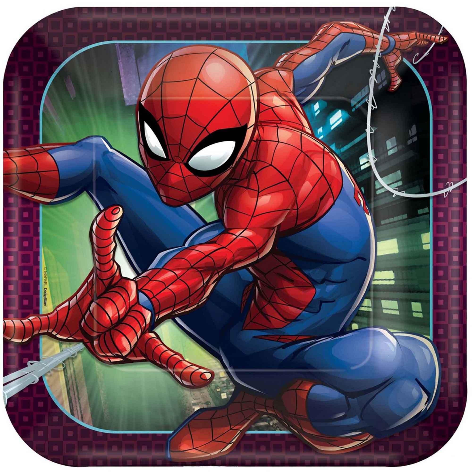 Spider-Man Webbed Wonder 23cm Square Plates
