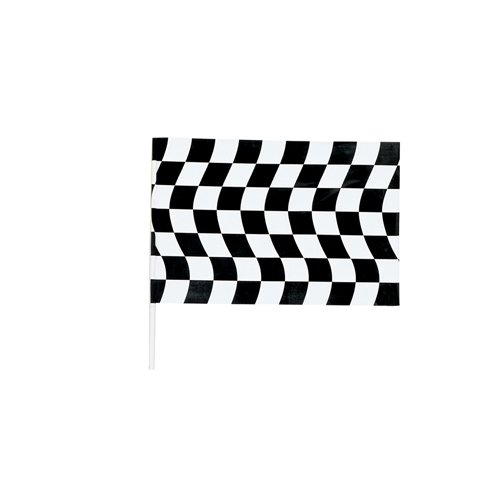 Black & White Check Jumbo Flag Plastic 1.21m x 85cm