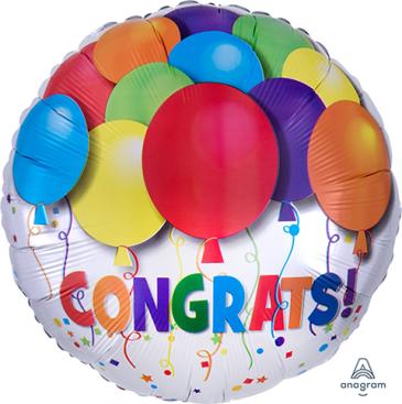 45cm Standard HX  Bold Congratulations Balloons S40