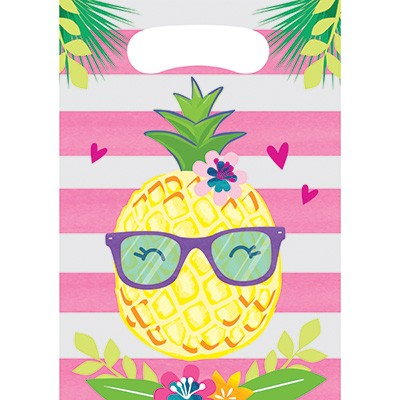 Pineapple N Friends Loot Bags Plastic 22cm x 16cm
