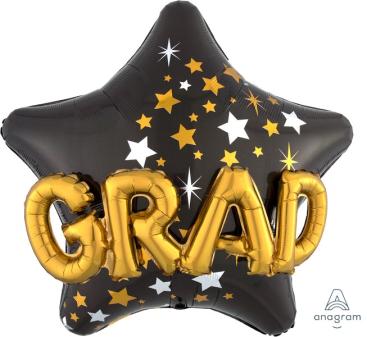 Multi-Balloon Congrats Grad Star P75