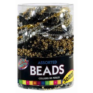 Glitz & Glam Plastic Beaded Necklaces