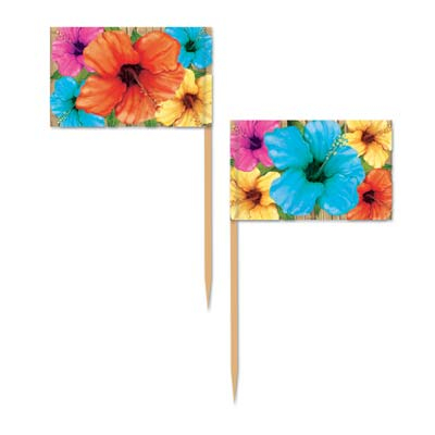 Luau Hibiscus Flowers Picks