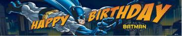 Batman Plastic Banner