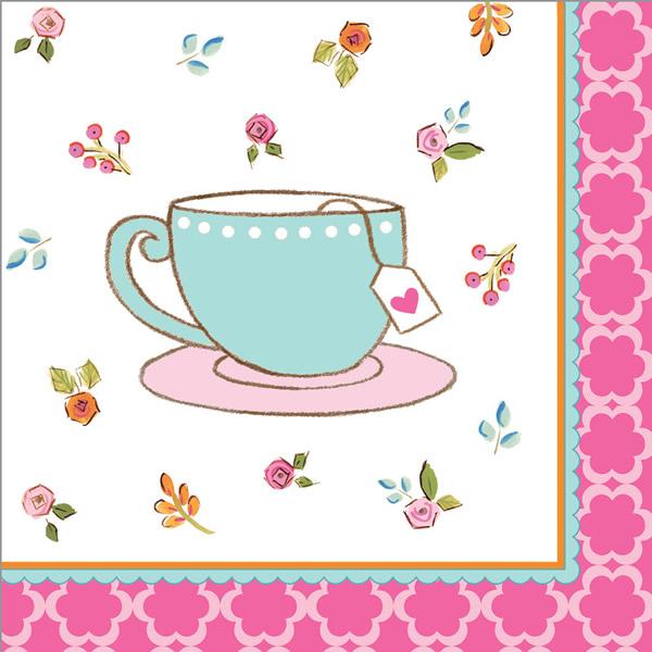 Tea Time Beverage Napkins