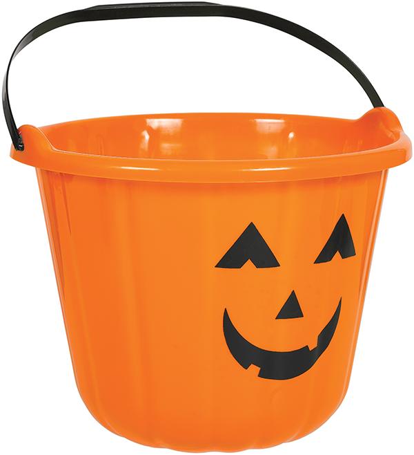 Pumpkin Bucket Plastic - Orange