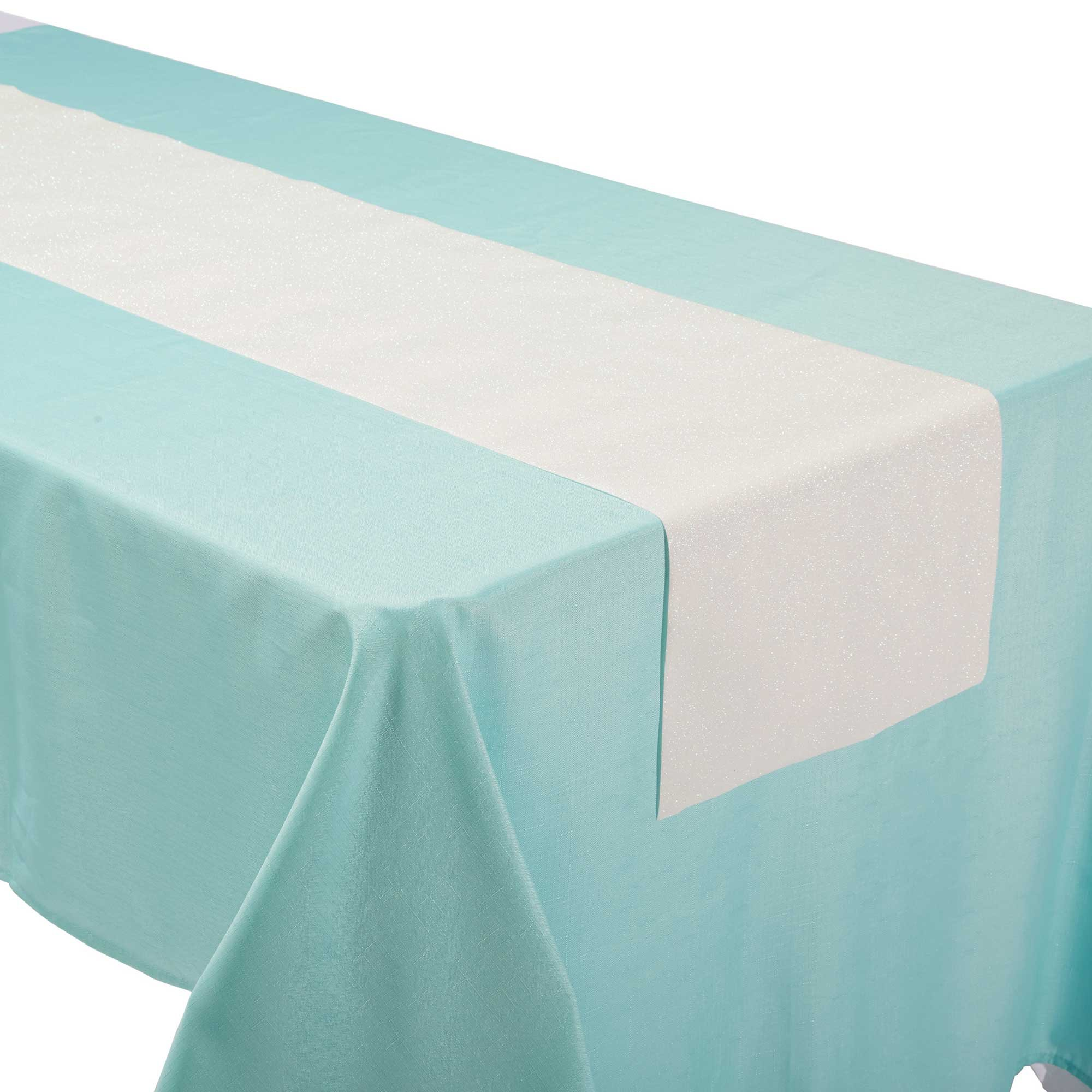 Shimmering Party Iridescent Linen Table Runner