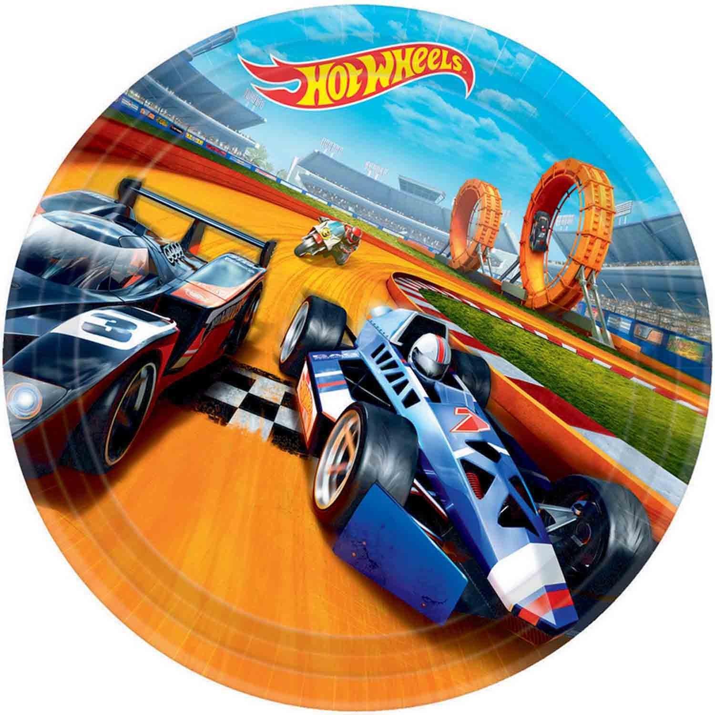 Hot Wheels Wild Racer 23cm Round Plates