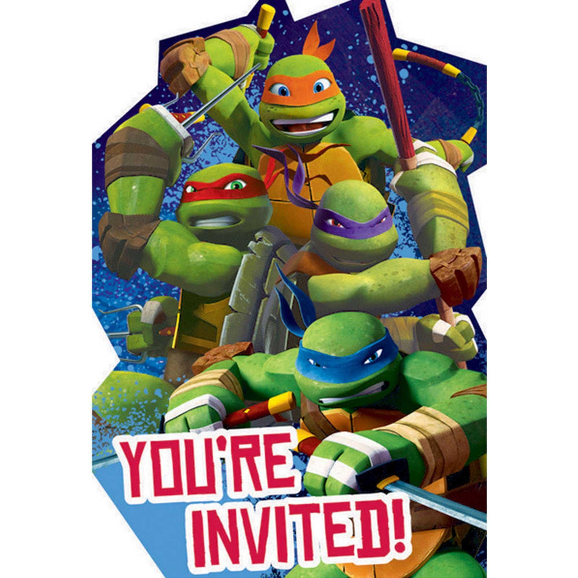 Teenage Mutant Ninja Turtles Postcard Invitations