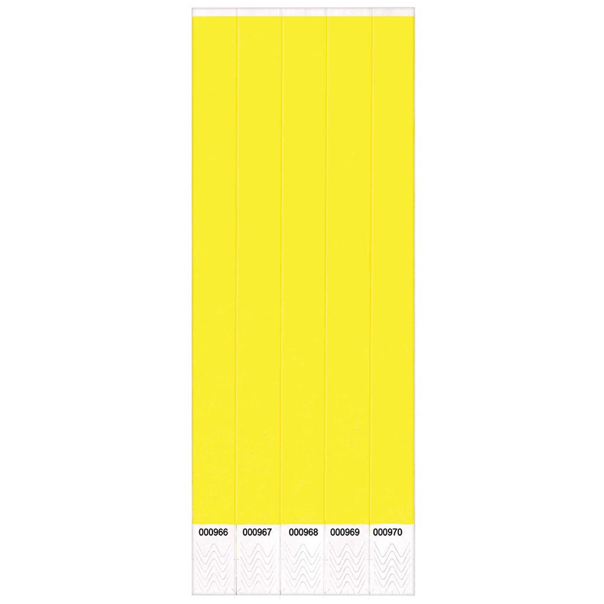 Wristbands Yellow Value Pack 100 Numbered Bands