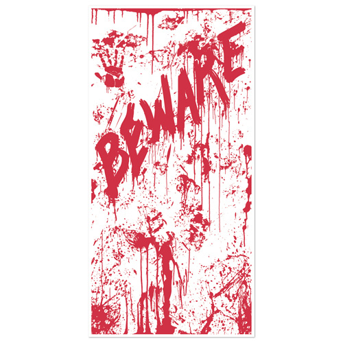 Bloody Splatters 'Beware' Door Cover