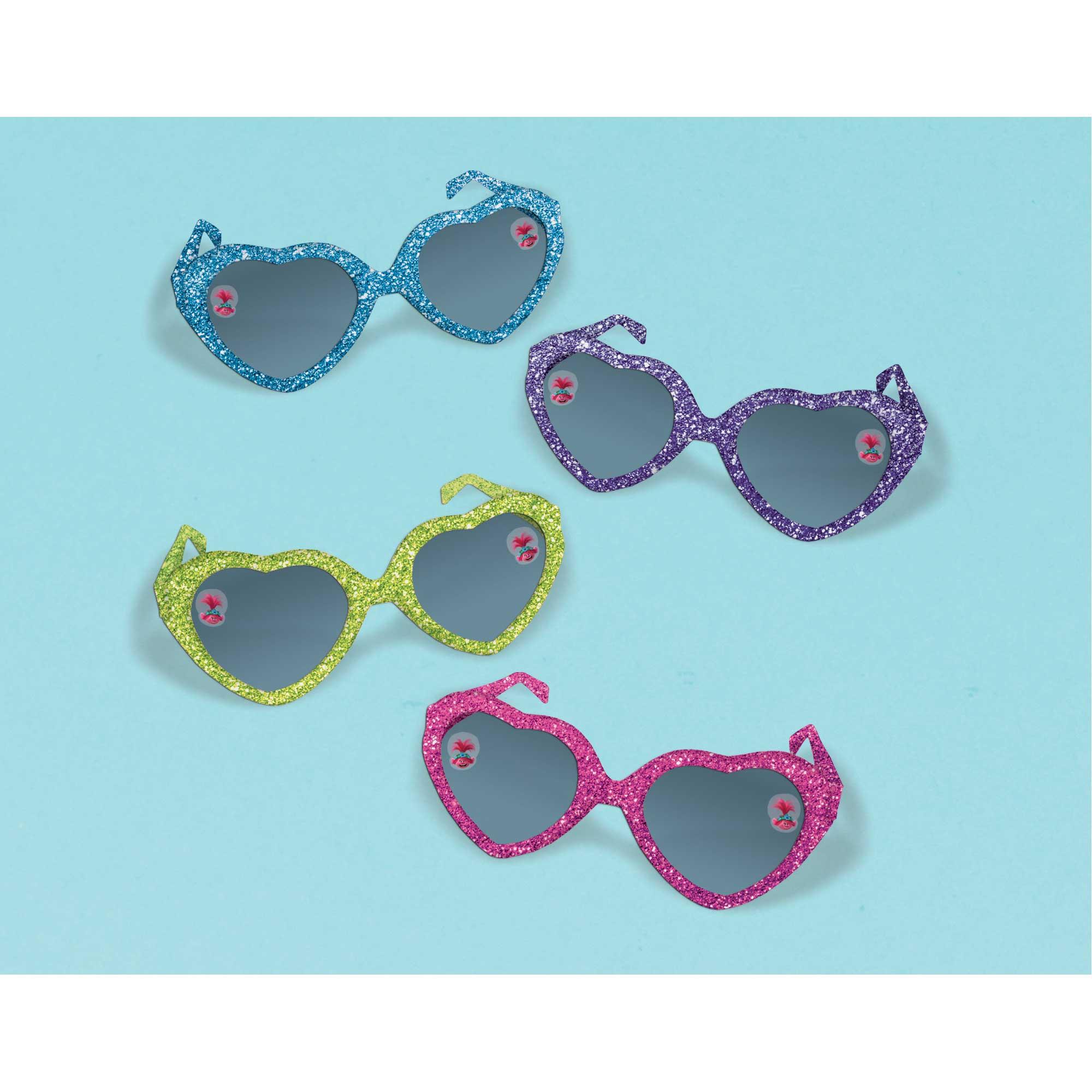 Trolls World Tour Glittered Heart Glasses