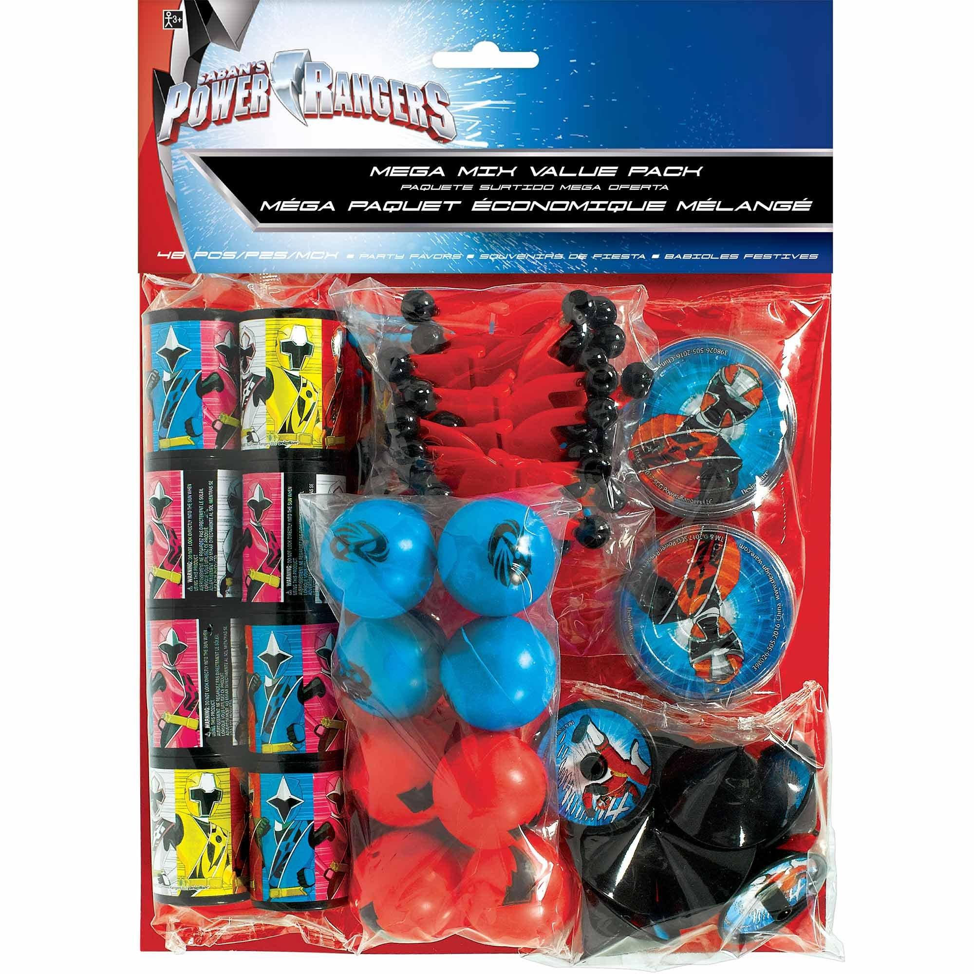 Power Rangers Ninja Steel Mega Mix Favors Value Pack