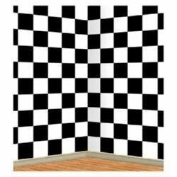 Backdrop Black & White Checkered Scene Setter