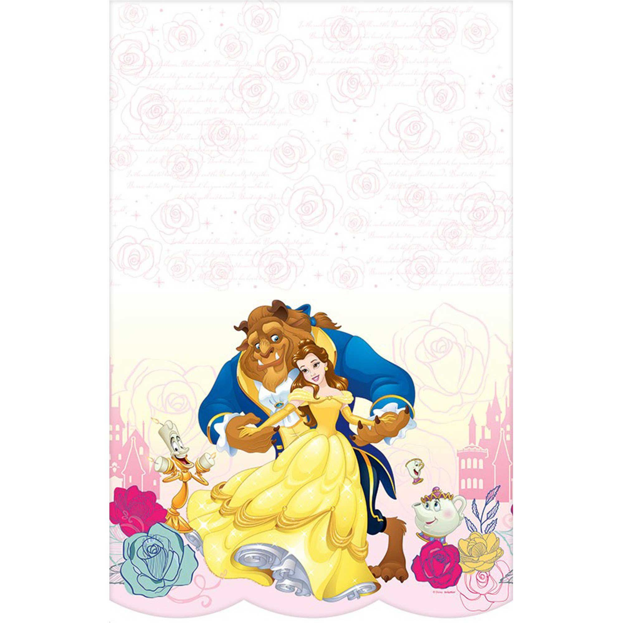 Beauty and the Beast Tablecover Plastic