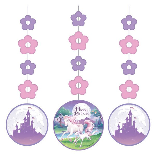 Unicorn Fantasy Hanging Cutouts