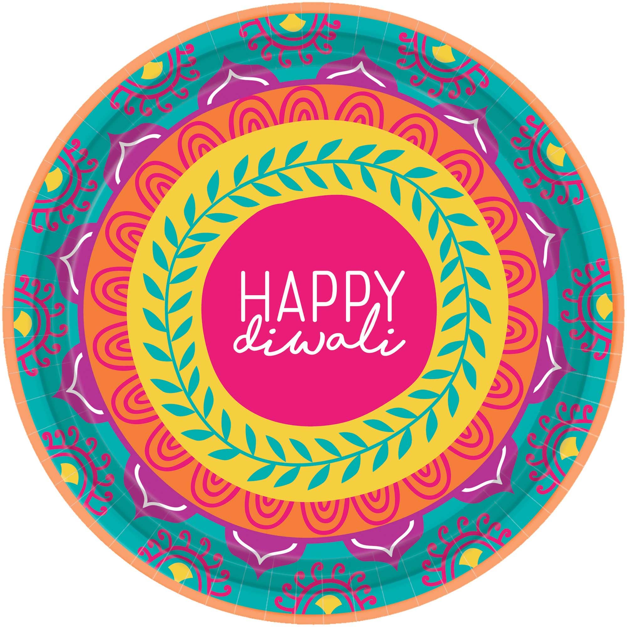 """Diwali 7"""" / 18cm Paper Lunch Plates"