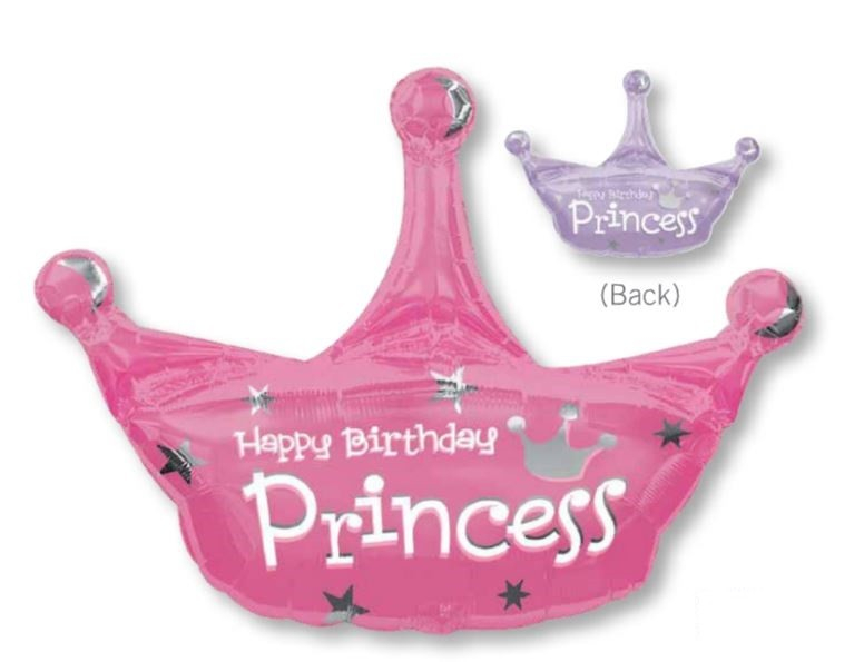 SuperShape XL Happy Birthday Princess Crown P35