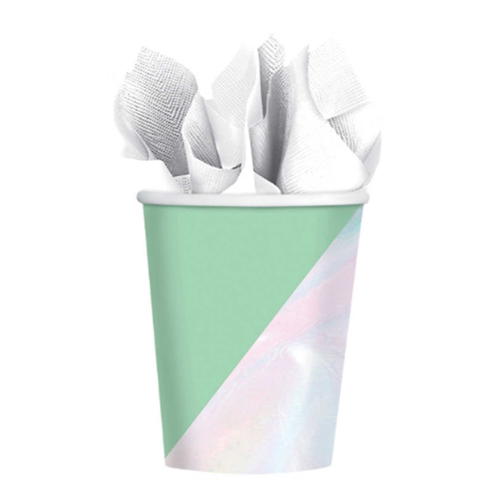Shimmering Party Iridescent Paper Cups 266ml