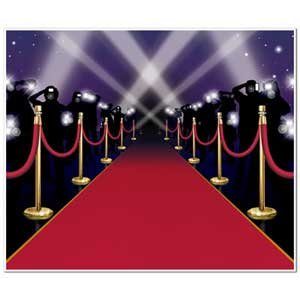 Backdrop Red Carpet & Stanchions Scene Setter