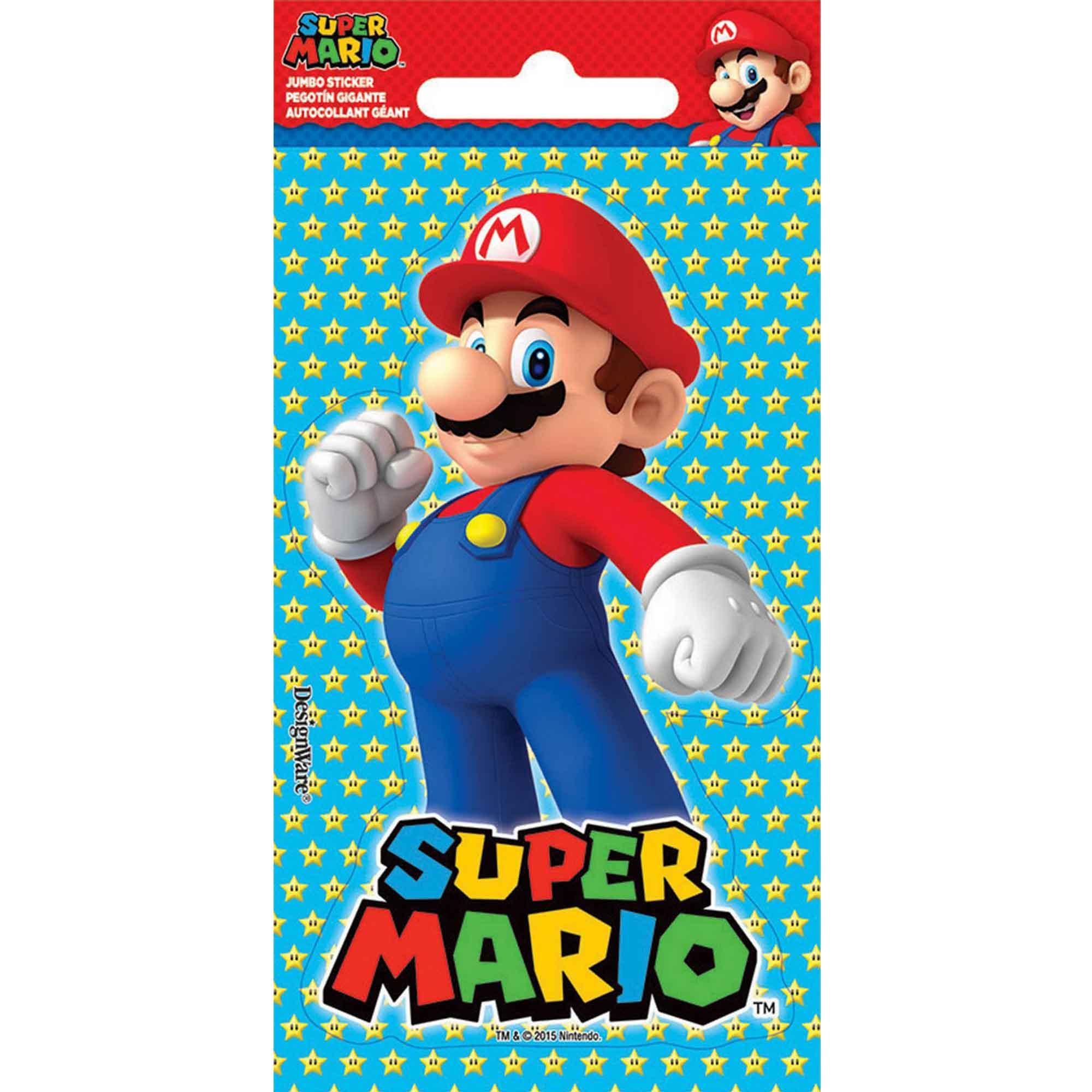 Stickers Jumbo Favor Super Mario Bros