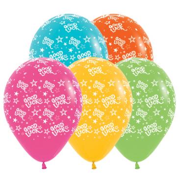 Sempertex 30cm Good Luck Stars Tropical Assorted Latex Balloons, 25PK