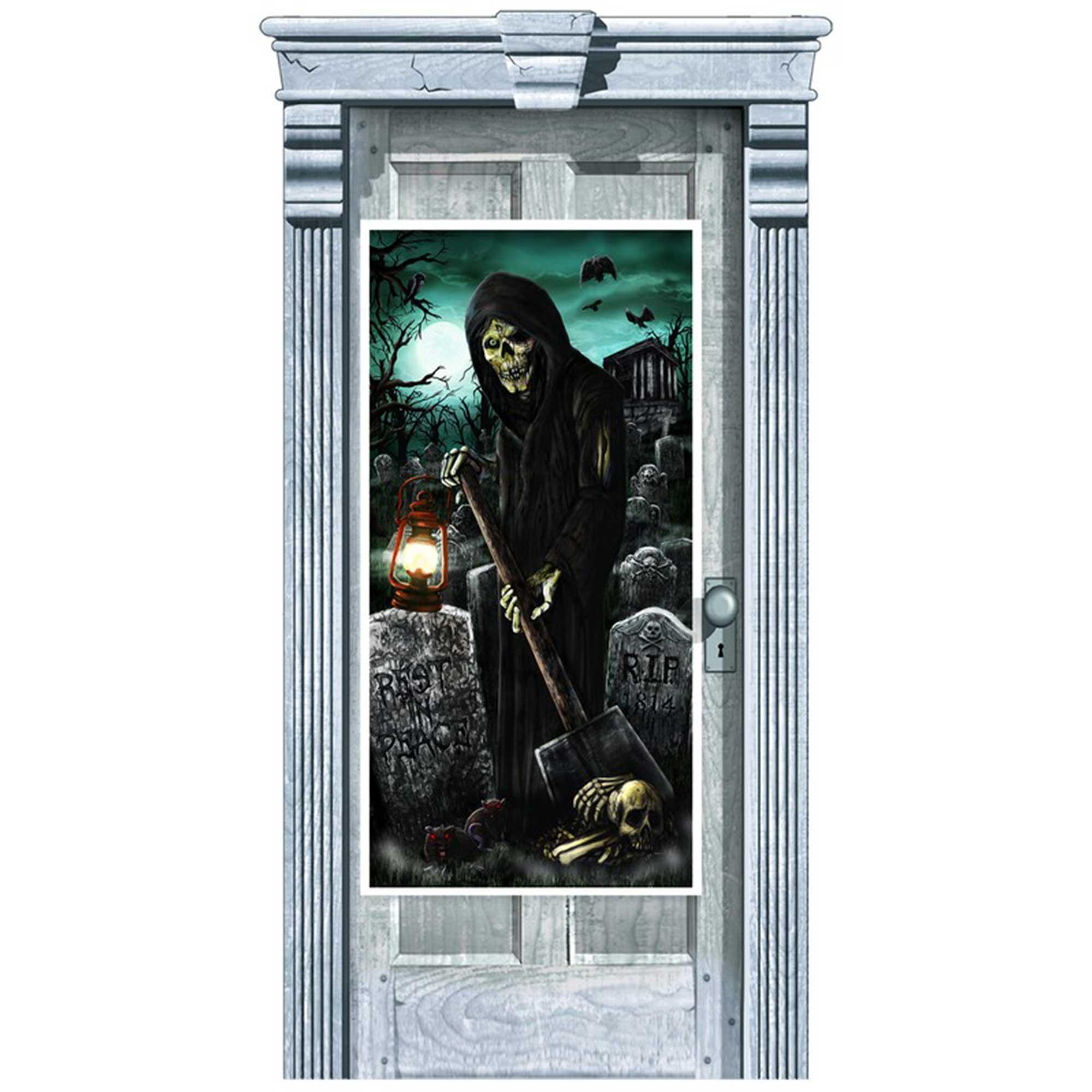 Cemetery Door Decorations Plastic