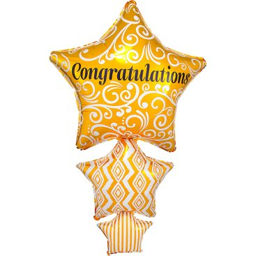 SuperShape Congratulations Stacked Stars P35