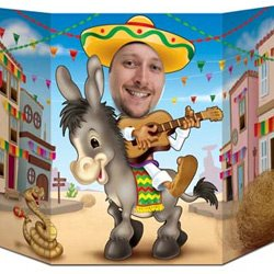 Fiesta Donkey Photo Prop