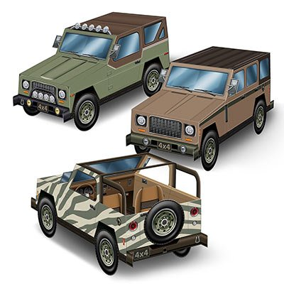 SUV Jeep Centrepieces