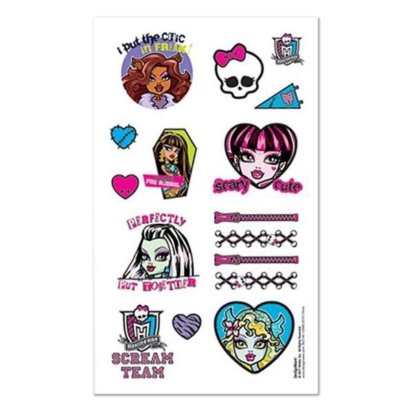Monster High Tattoo Favors
