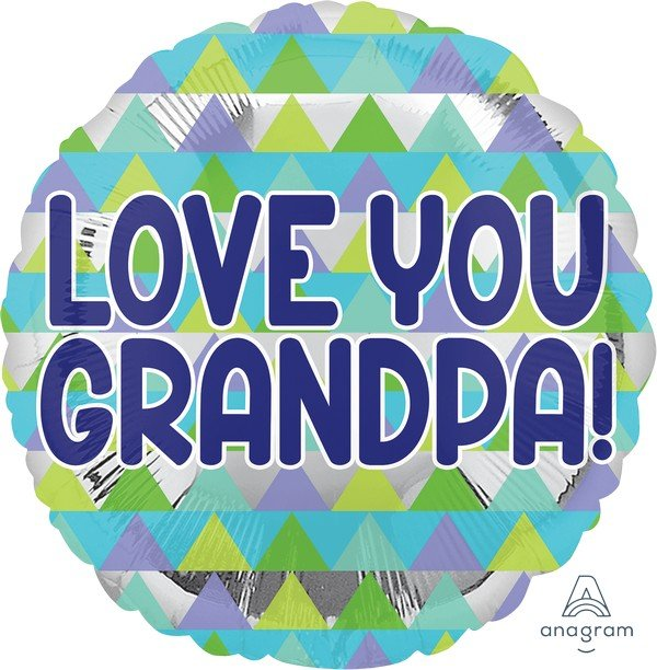 45cm Standard Love You Grandpa Triangle S40