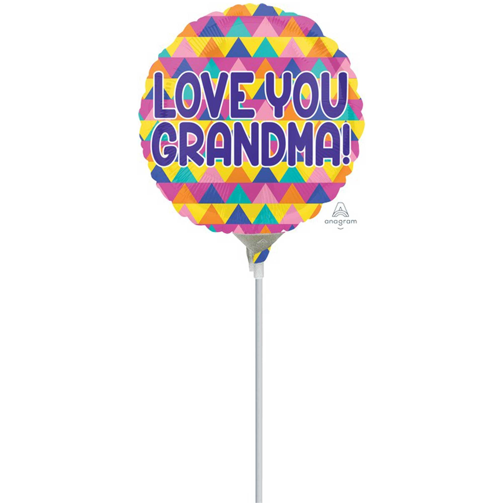 22cm Love You Grandma Triangle Pattern A15