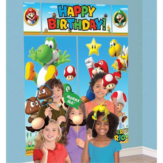 Super Mario Brothers Happy Birthday Scene Setter & Props