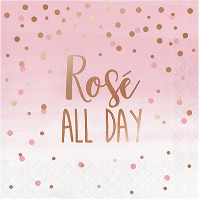 Rose All Day Lunch Napkins Rose All Day Rose Gold Foil